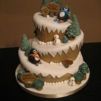 Birthday Skiing This is my first big project using fondant. I used the topsy turvy style to depict the slopes and mountains in this skiing theme. It's...
