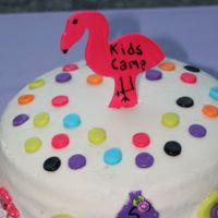 Flamingo Cake This is my 1st cake! I've got a long way to go- I know! I had sometrouble with the sides. It was a confetti cake w/ BC. Fondant...
