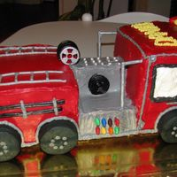 Fire Engine Cake This cake was for my son´s 5th Birthday. he loved it !