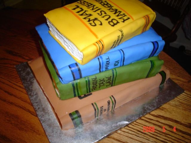Stack Of Books Fondant and buttercream