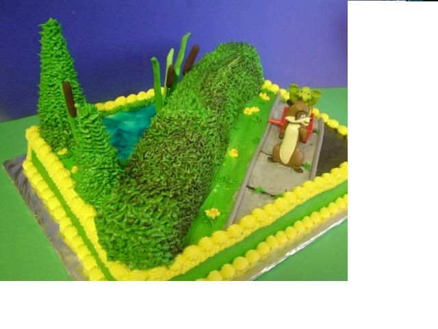 Over The Hedge All edible except for figurines. Hedge is spice cake.