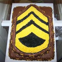 Army Grooms Cake this was done for a friend of a friend :) her hubby to be is an army recruiter and she wanted his grooms cake to be his rank. it's a...