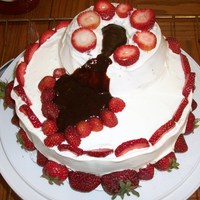 Romance Volcano Cake On top of the volcano, squeeze a dallop of cool whip & on the very top add 3 strawberries dipped in chocolate. Once the cool whip and...