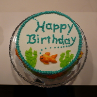 Goldfish Birthday Cake All BC. Made for my mother's birthday. I was not to thrilled with it, but my mom liked it.