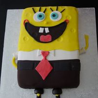 Sponge Bob Who lives in a pineapple under the sea? I enjoyed making this cake.