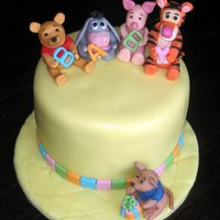 Winnie The Pooh Baby Shower Fondant figures.