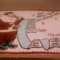 Santa Cake 2008 I made this cake for a customer that wanted something for children. It's just a regular sheet cake with a design hand drawn onto it. I...