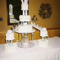 My First Major Wedding Cake! This picture isn't the greatest, but this is my first large wedding cake that I have made. It was very nervewracking to put this thing...