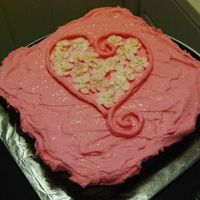 Sweetest Day Quick Cake - Hearts And Flowers, Buttercream
