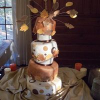 Fall Leaves Foam Wedge Topsy-Turvy Be gentle, this was my first ever wedding cake, and my first four tier cake, and my first topsy-turvy cake. My best friend married my...
