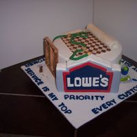 Lowe's Cake I work @ Lowe's. My HR manager asked me to make a sheet cake to celebrate the end of a management training course I was in. I don&#039...
