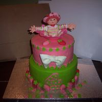 Strawberry Shortcake Birthday Strawberry Shortcake birthday cake for a friend's little girl who was turning 4. Cake is WASC covered in Coco-Pan, Figure is modeling...