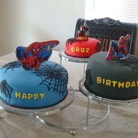 Spiderman Cake This is my first fonant cake for a client. I was really nervous it wasn't going to come out good. I did not know what to use as...