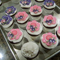 Party Hat Cupcakes  Cupcakes made for a Kentucky Derby themed bridal shower. Darn Good Choc cupcakes with white choc mousse filling, butter cream icing. Hats...