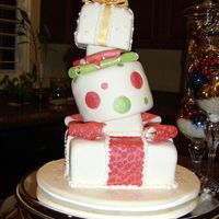 Christmas Topsy Turvy  This is a cake I made for my holiday party. It is my first attempt at a topsy turvy. It was inspired by Colette Peters, I attended her...
