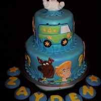 Zayden's Scooby Doo Cake This cake was for my son's 4th birthday! He pretty much designed the cake himself, right down to the colors and flavors, I just...