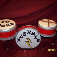 "50 Rocks! This was for a guy who was turning 50, he loves playing the drums & his favorite song is ""Kashmir""! I had an ipod speaker..."