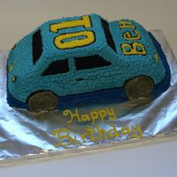 Racing Car Car cake for a 1 year old's birthday, BC Icing with star tip.Got the idea from a cake on CC just can't remember the person's...