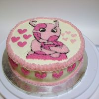 Uniqua - Backyardigan's Again another great idea I got from cakes on CC. I did pink hearts along the outside to go with the pick theme. Had alot of trouble with...