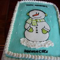 Snowman Christmas Party Cake