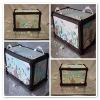 Dual Fish Tank A little while ago I uploaded a Dual Library Book cake for a double birthday where one side was for one birthday girl and when you turned...