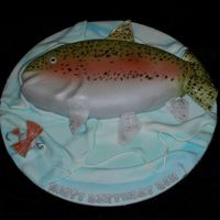 Rainbow Trout A Rainbow Trout cake for a birthday. In addition to a googled picture of a rainbow trout I turned to two designs I found on Flickr: and the...