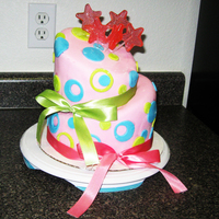 My First Topsy Turvy Cake This is my first time doing a Mad Hatters cake.