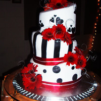 Black And White Wedding Cake a semi- mad hatters wedding cake made with fondant