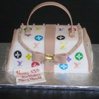 Lv Purse Cake What mom wouldn't like this little purse for Mother's Day.........and you can eat it! This cake is covered with fondant and the...
