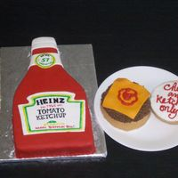 """just Plain"" Dad This cake was for the man who likes his burgers (his favorite meal of course) ""Just Plain"".....ketchup and cheese only please!..."
