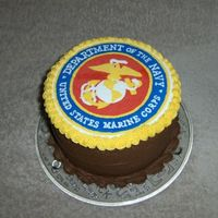 Cake For Marines Chocolate WASC (thanks Macsmom!) with strawberry cream cheese filling and chocolate hazelnut filling. Top is FTBC. Was not hard at all. It...