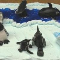 Marine Biology High School Project This is a cake I helped my autistic son make for his marine bio final report. He did most of the work making the penguins, seals, whale,...