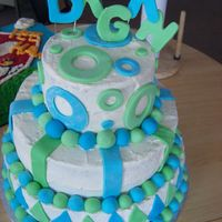Daegan's Cake This was my first cake to do a significant amount of fondant details. I was pretty proud of how it turned out. And....I had to deliver it...