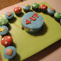 Super Mario Brothers Cake And Cupcakes