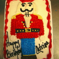 Nutcracker 1/4 sheet buttercream freehand nutcracker