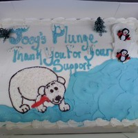 Polar Bear Plunge Not sure where I should have posted this. I make this cake every year for a little boy that sponsors a polar bear plunge.