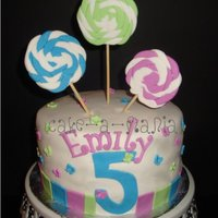 "Lollipop Cake Fondant lollipopsBasic 8"" cake fondant decorations"
