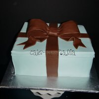 Tiffany Box Tiffany blue box with brown fondant bow