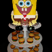 Sponge Bob And Krabby Patties Phew cant believe i did it!! yeay! I think i had more anxiety over the delivery then anything! Enjoy..Butter cream and fondant...