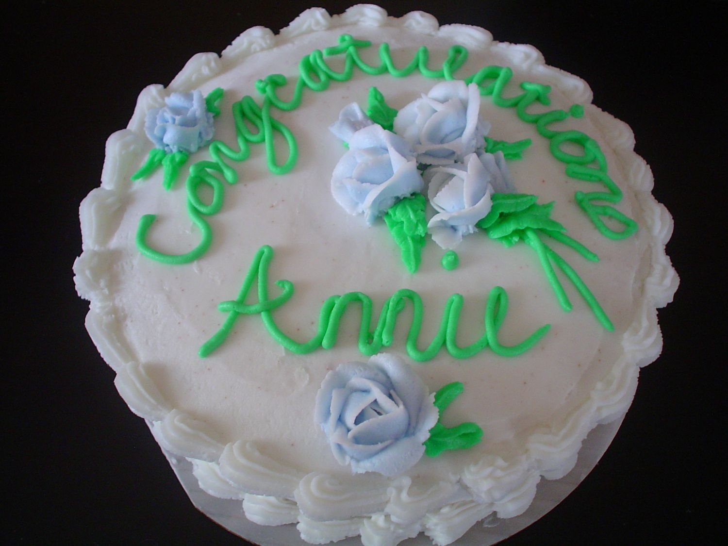 Annie's Celebration Cake In my last cake decorating class, we were to decorate however we wanted. Chocolate cake with buttercream icing. I was very happy with how...