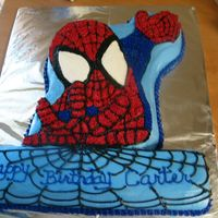 Spidey I had so much fun making this cake!! Got the inspiration from a Wilton cake book.