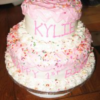 Kylie's 1 For a first birthday. This was also from a Wilton Yearbook!!