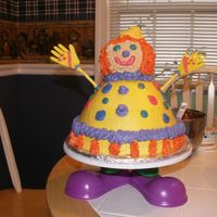 Clown Cake This is a take off of the Wilton Clown Cake in the 2008 Yearbook. I made this for my mother to take to her monthly Clown Alley meeting (she...