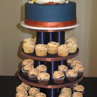 Hardhat Cupcake Tower This was for a company's 50th anniversary banquet. The company is a constuction company, so I made a hardhat for the top and used the...