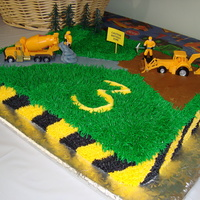 Construction I made this for my three year old..he LOVED it! Thanks for all the wonderful construction cakes on here to gather ideas from!! Sorry I don...