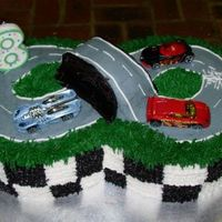 Hot Wheels Birthday Cake I would have never come up with this without all the other wonderful hot wheels cakes on here to get ideas from! This was for my nephew&#...