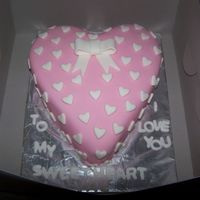 Wrapped In Hearts Yellow cake with vanilla buttercream