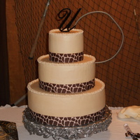"Giraffe Print Ribbon   14"", 10"", and 6"" white chiffon with strawberry filling"