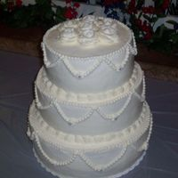 Wedding This is my 1st paid wedding cake
