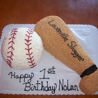 Baseball I made this for a 1st birthday-